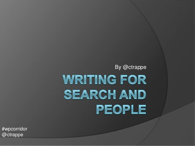 Writing for search and people