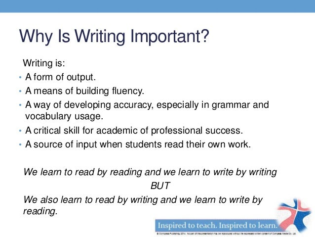 Why is it important to write?