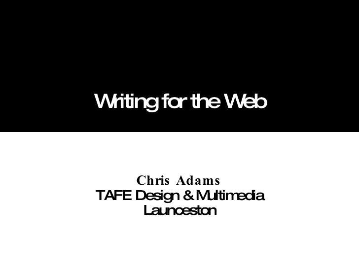 Writingfortheweb