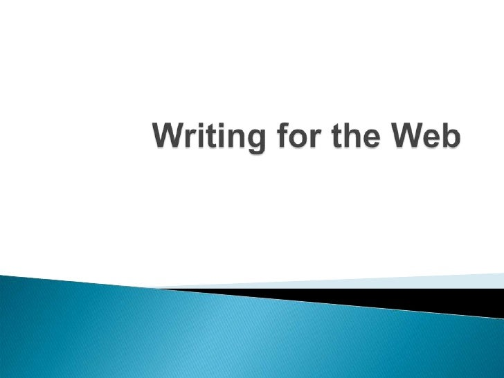 Writing for the Web<br />