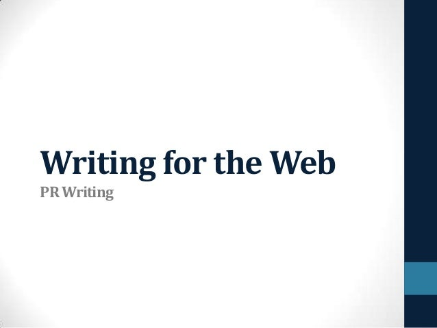 Writing for the Web PR Writing