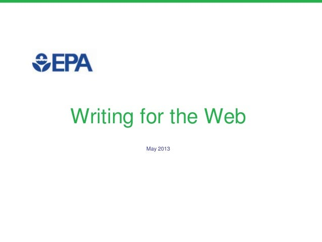 Writing for the WebMay 2013