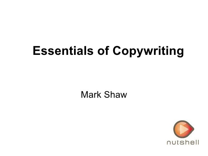 Mark Shaw Essentials of Copywriting