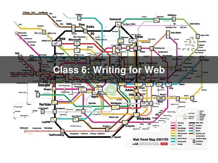 Class 6:Writing for Web<br />