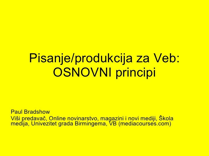 Writing for web (Montenegrin)