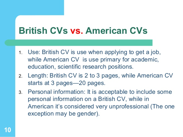 How To Do A Curriculum Vitae Uk