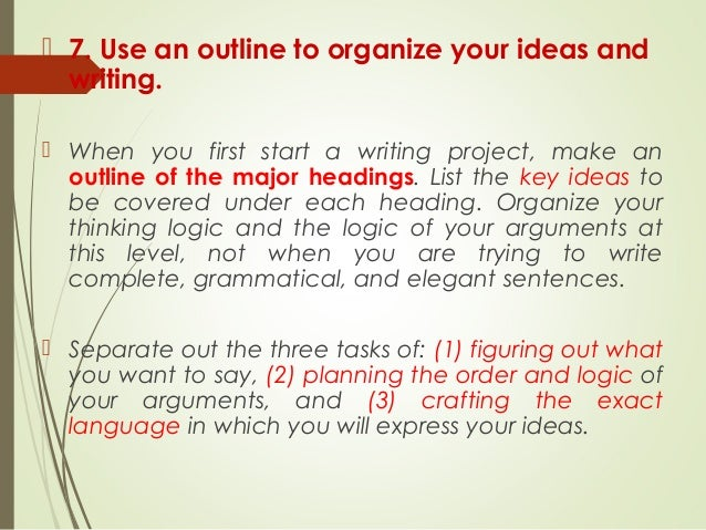 What's the best way to organize your resources for a paper?