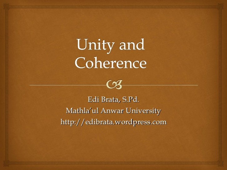 and unity in essay coherence and unity in essay