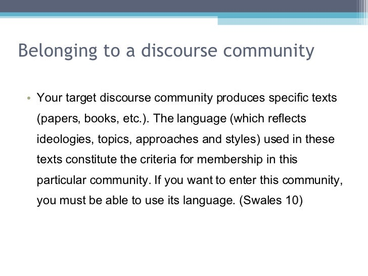 a discourse community and cosmetology essay Open document below is an essay on discourse community from anti essays, your source for research papers, essays, and term paper examples.