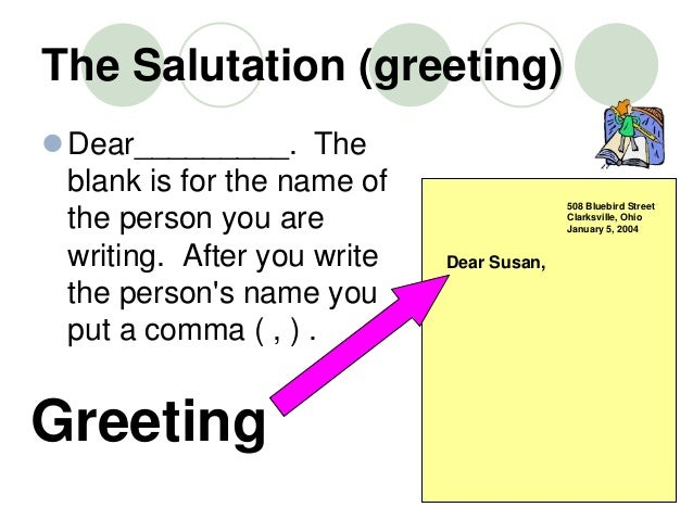 Writing Informal Letters Written In Your The