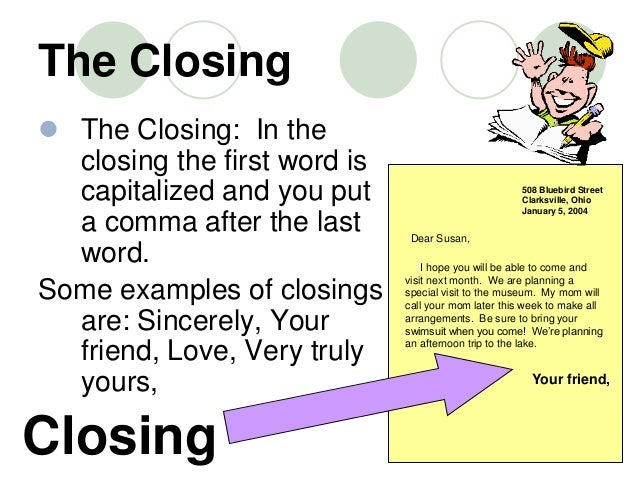 love letter closing