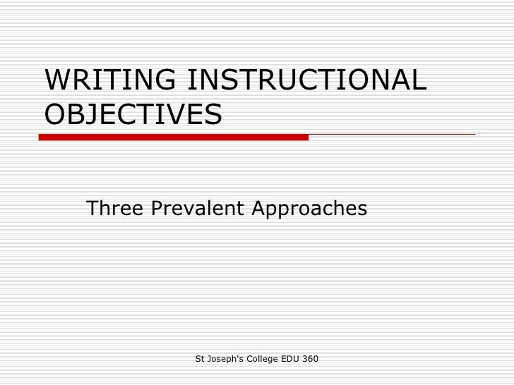 instructional objectives essay Instructional communication instructional communication can be best explained as the transfer of information in a teaching environment there are a lot of aspects that is associated with instructional communication the contexts that are most relevant to my career are teacher to teacher communication, teacher to student communication, comprehension of information, and technology used in the [.