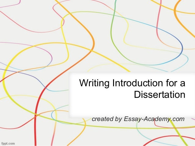 Writing an introduction to a dissertation