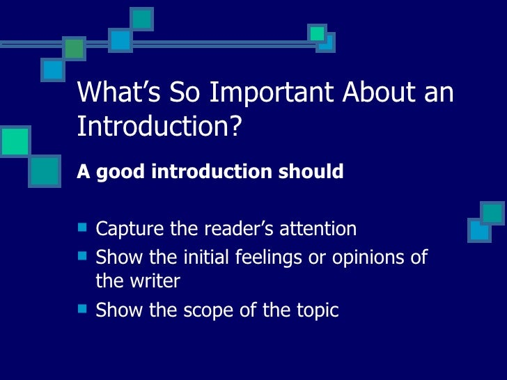How to write a good hook for your introductory paragraph ?