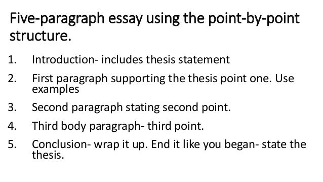 Point by point essay example