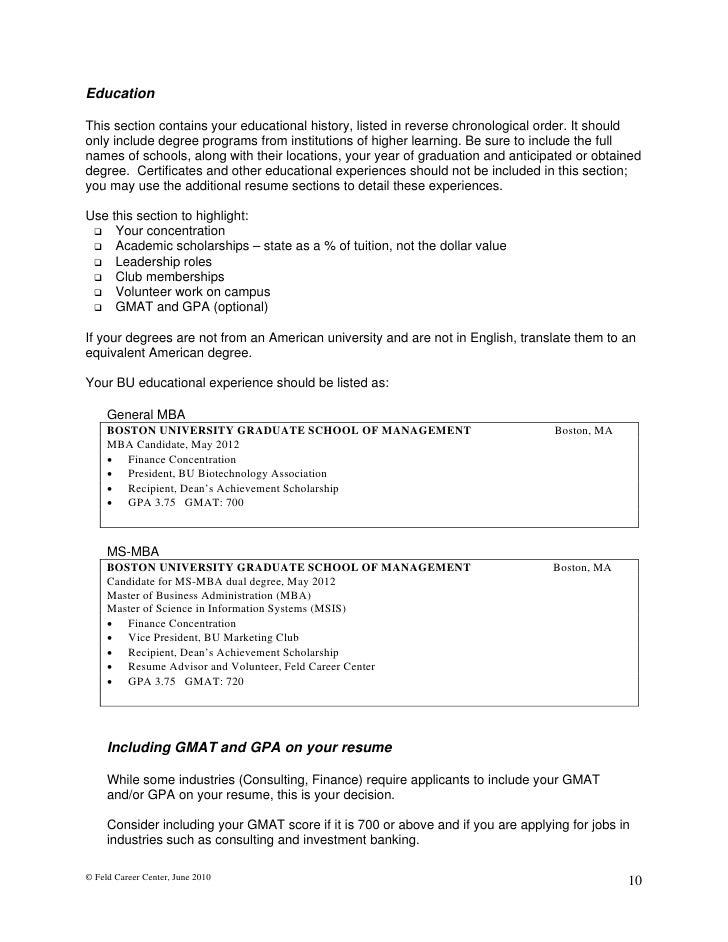 resume order reverse chronological resume example sample resume ...