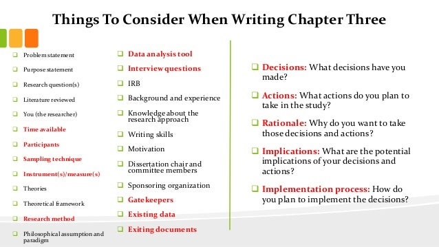 Writing methodology for dissertation