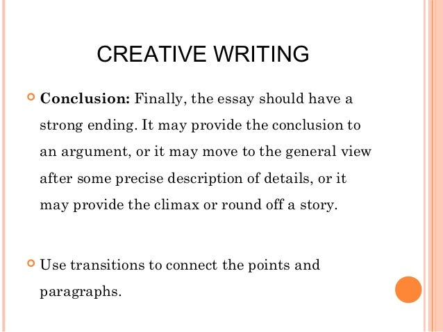 A level creative writing essays
