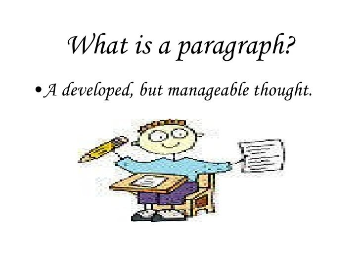 What is a developed paragraph?