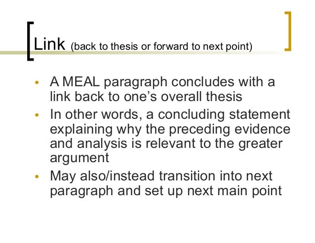 meal analysis essay Sentence starters, transitional and other useful words to introduce this essay discusses       is explored       is defined  .