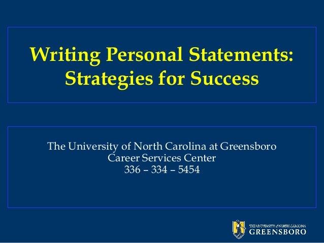Writing personalstatements