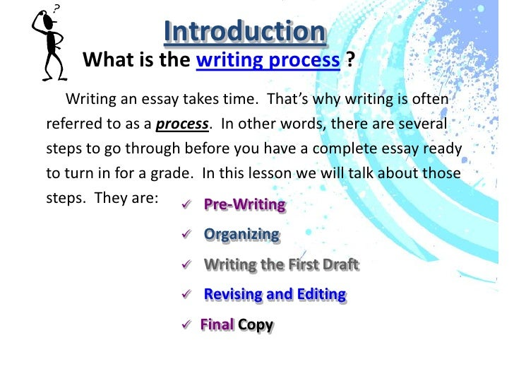 writing process presentation