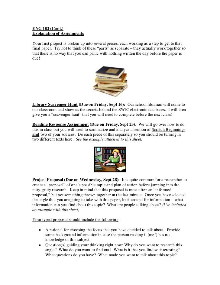 Writing project #1 explanation day