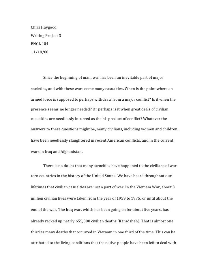 Writing project 3