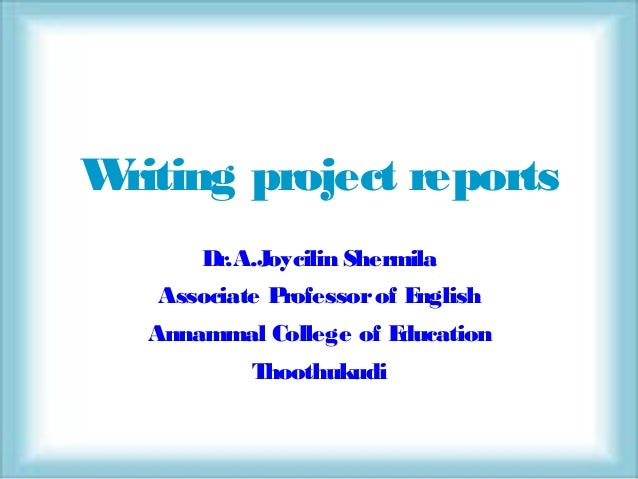 How to Write an Assessment Report