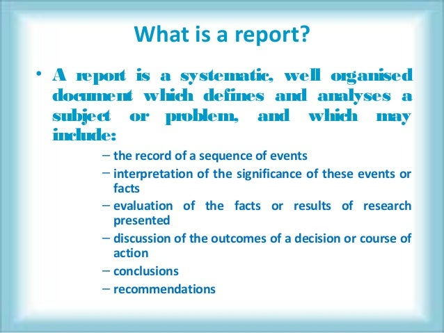 how to write project reports