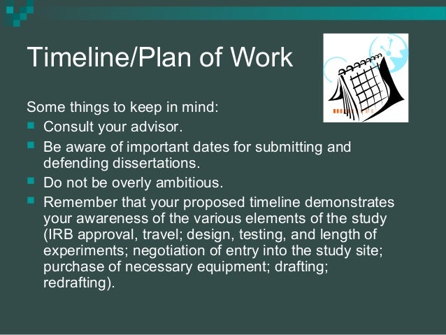 Proposal And Dissertation Help Plan Of Work