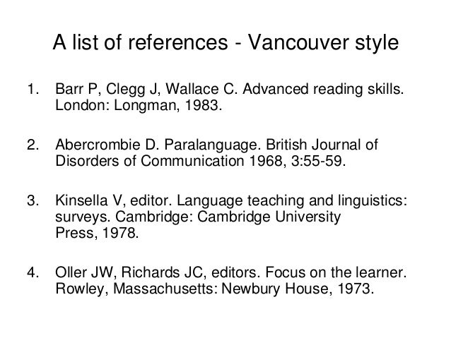 References writing