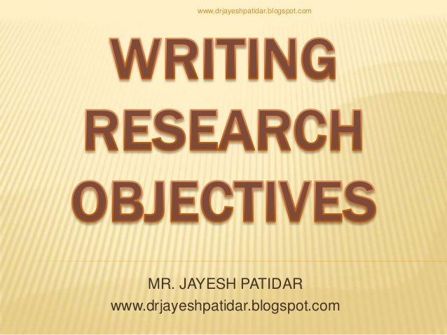 Writing Dissertation Aims And Objectives