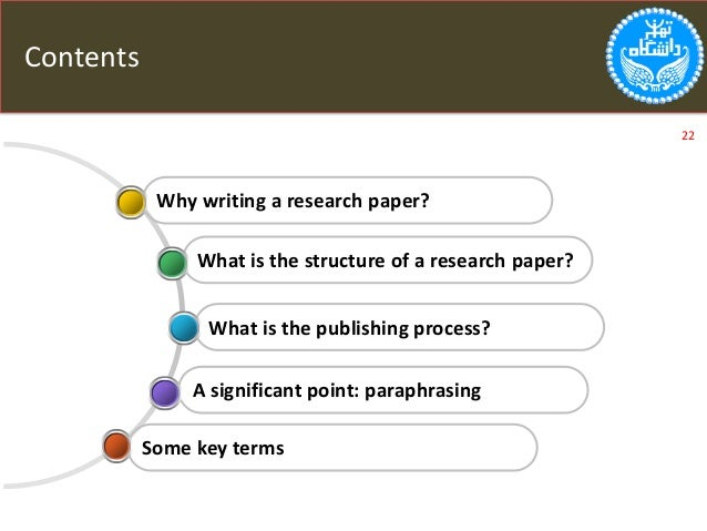 structure of writing a research paper A research paper is a piece of academic writing based on its author's original research on a particular topic, and the analysis and interpretation of the research findings it can be either a term paper, a master's thesis or a doctoral dissertation.