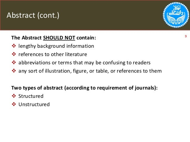 What to include in a research paper