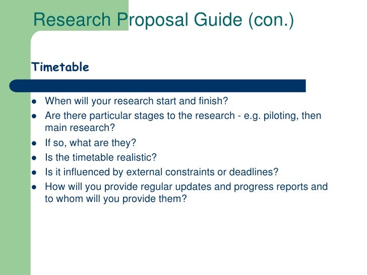 My Research Proposal