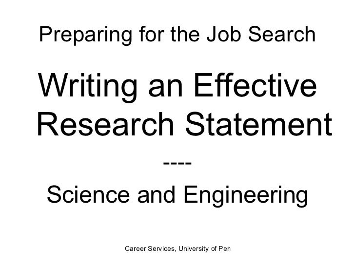 statement problem research proposal