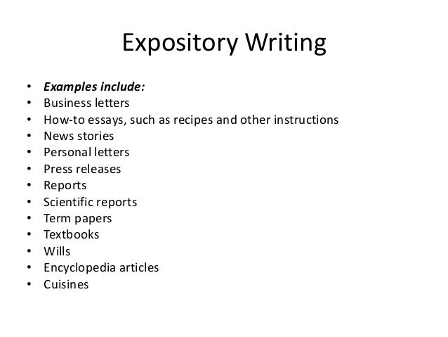 expository mode of writing
