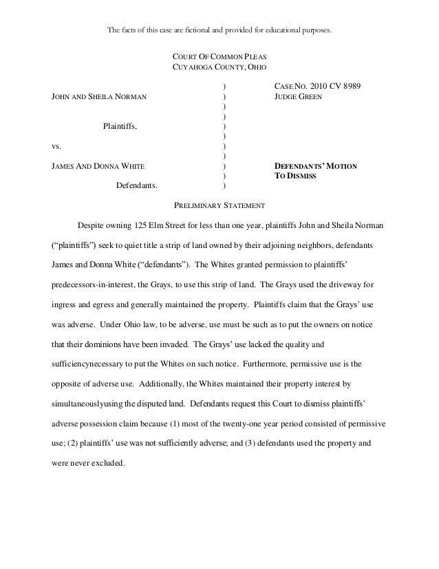 adverse possession essay