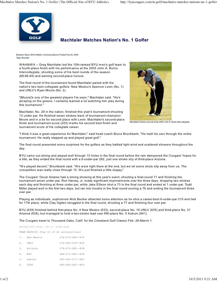 Machtaler Matches Nations No. 1 Golfer | The Official Site of BYU Athletics          http://byucougars.com/m-golf/machtale...