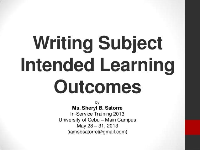 Writing Subject Intended Learning Outcomes