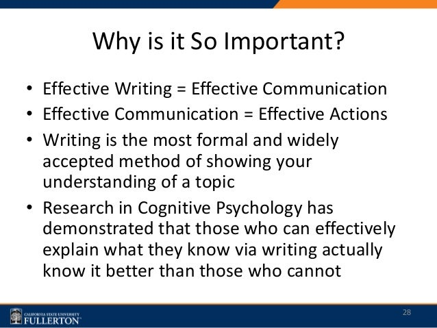 Why is writing still important?