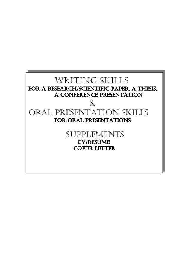 research  thesis preparation  oral presentations  cv  resume  cover let u2026