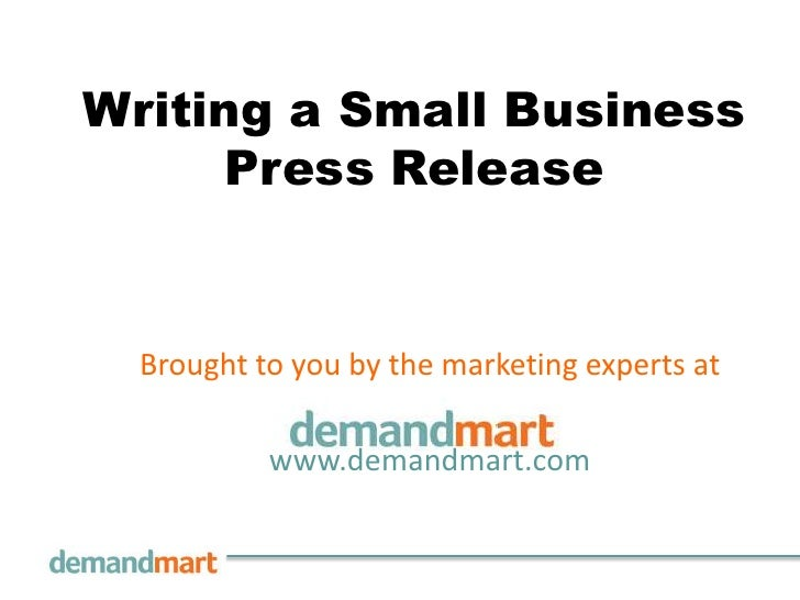 Writing a Small Business Press Release