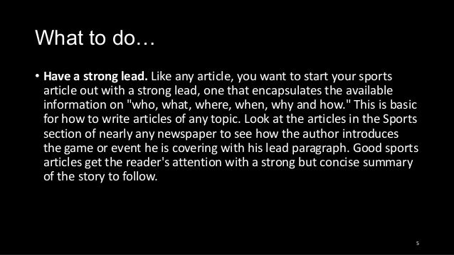 Whats a good introductory paragraph for a essay about Sports?