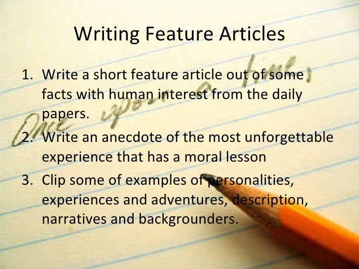 Writing short articles