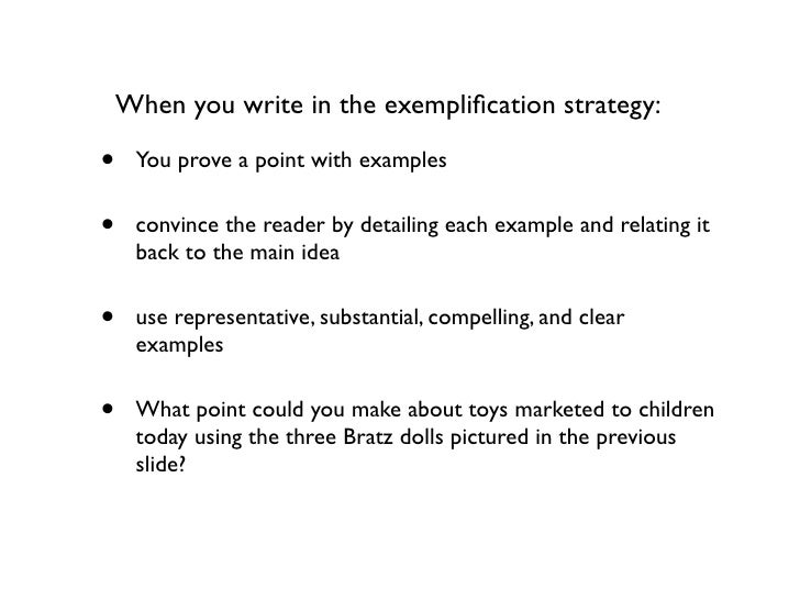 steps to writing an exemplification essay Grammarly's free writing app makes sure an exemplification essay is a type of argumentative essay what is an example of an exemplification paragraph with.
