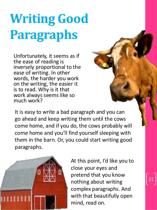 Can people write different styles of paragraphs?