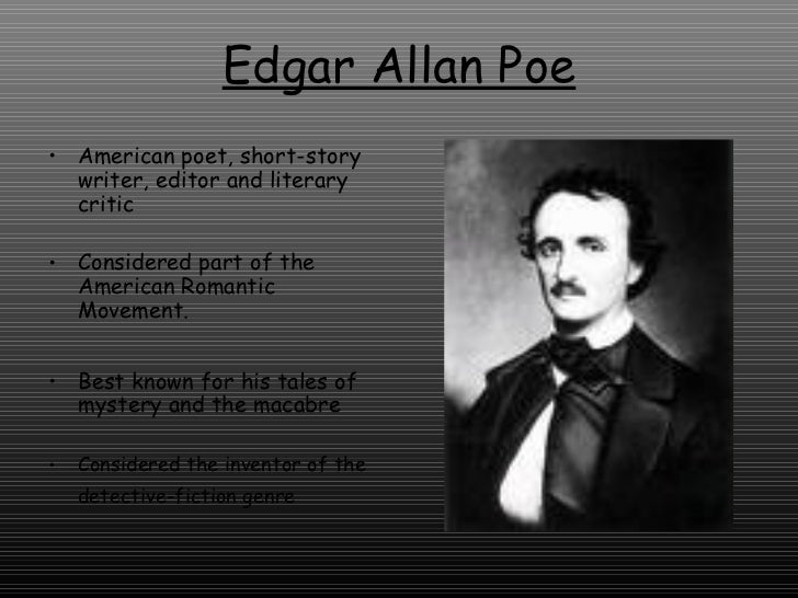 edgar allen poes gothicism essay Teaching the black cat lends itself to teaching suspense in edgar allan poe's the black cat it can be done as a timed-writing or a formal academic essay.