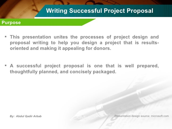 Help writing a project proposal